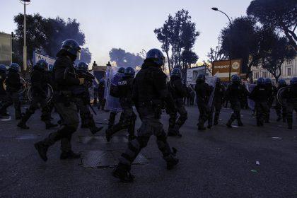 Napoli - MaiconSalvini - Corteo di protesta.