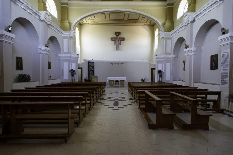 Chiesa delle suore Stimmatine - Scutari - Albania. Chiesa che durante il periodo comunista venne convertita in tribunale dove vennero giudicati gran parte dei prigionieri, laici e religiosi.