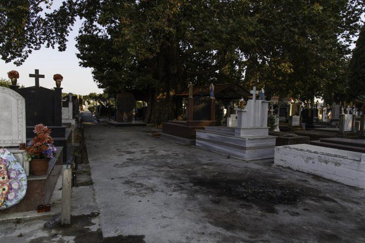 Cimitero Cattolico di Scutari - Scutari - Albania. Viale dove venivano fucilati i condannati a morte. Precedentemente era presente un muro lungo il viale dove venivano messi in fila i prigionieri.