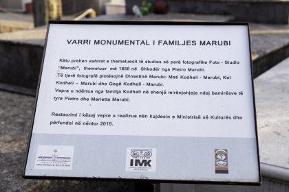 Tomba della famiglia Marubi - Cimitero di Scutari - Albania. Pietro Marubi fu il primo fotografo Italiano a documentare la vita nei Balcani.