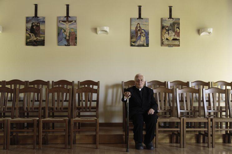 Don Gjergj Simoni nel Seminario di Scutari - Albania.