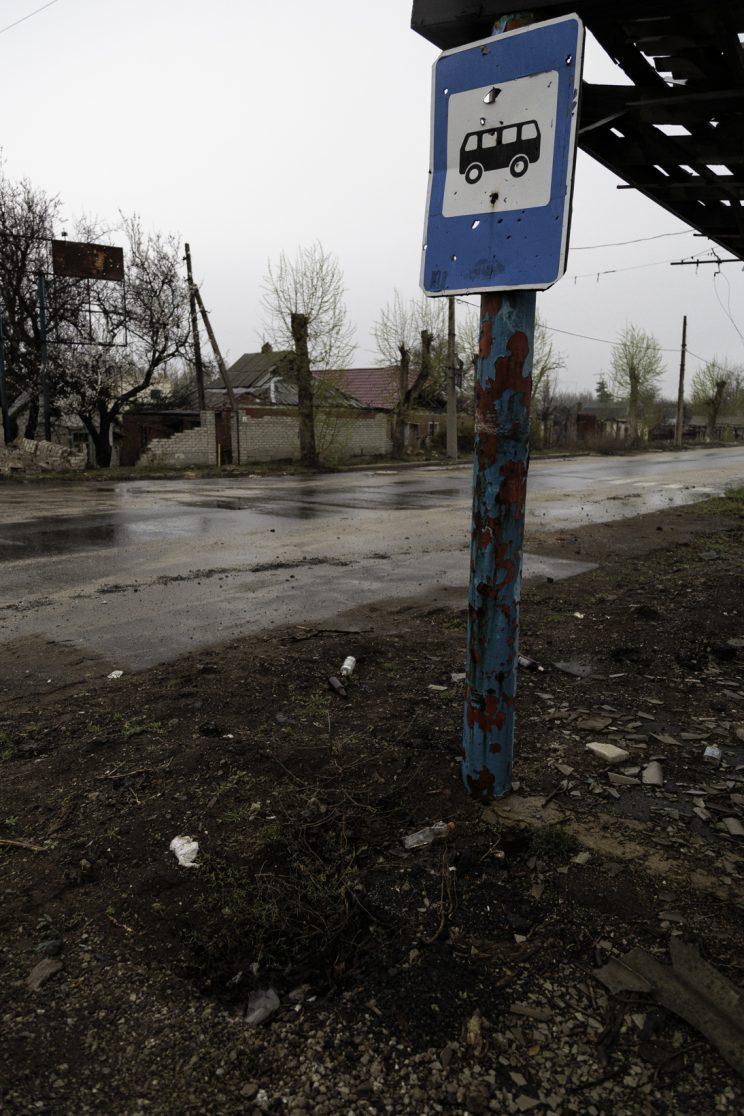 Stratonavtiv Street - Distretto di Octyabrsky - Donetsk - Repubblica Popolare di Donetsk (Ex Ucraina - Donbass) - 2018.