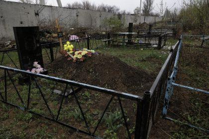 Stratonavtv Street - Distretto Octyabrsky - Donetsk - Repubblica Popolare di Donetsk - 2018. Un piccolo cimitero all
