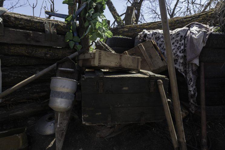 La trincea di Kominternove - Repubblica Popolare di Donetsk - 2018.