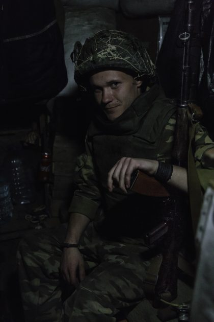 La trincea di Kominternove - Repubblica Popolare di Donetsk - 2018. Andrej.