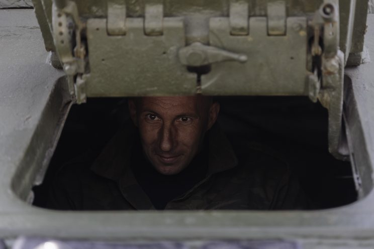 Base Riparazioni - Donetsk - Repubblica Popolare di Donetsk (Ex Ucraina - Donbass) - 2018. Il pilota del Carroarmato.