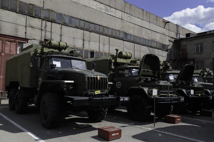 Base Riparazioni - Donetsk - Repubblica Popolare di Donetsk (Ex Ucraina - Donbass) - 2018. Veicoli militari.