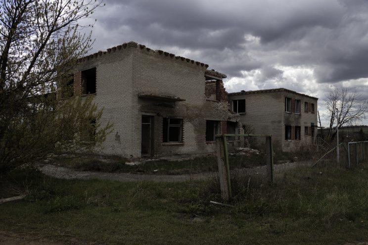 L'Asilo di Stepanivka - Repubblica Popolare di Donetsk (Ex Ucraina - Donbass) - 2018. L'edificio visto da fuori.