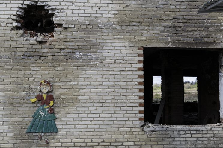L'Asilo di Stepanivka - Repubblica Popolare di Donetsk (Ex Ucraina - Donbass) - 2018. L'esterno dell'edificio.