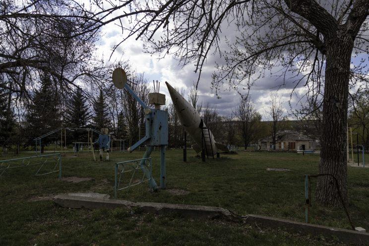 L'Asilo di Stepanivka - Repubblica Popolare di Donetsk (Ex Ucraina - Donbass) - 2018. Il parco giochi.